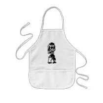 Cigar Smoking Cowboy Skeleton Kids' Apron