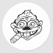 Cigar Smoking Monkey Stickers