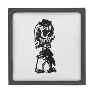 Cigar Smoking Skeleton Gift Box