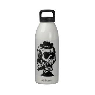 Cigar Smoking Skeleton Reusable Water Bottle