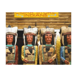 Cigar Store Indian statues Stretched Canvas Prints
