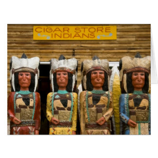 Cigar Store Indian statues Greeting Cards