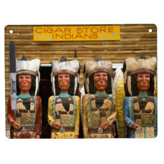 Cigar Store Indian statues Dry Erase White Board