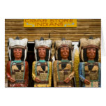 Cigar Store Indian statues Greeting Card