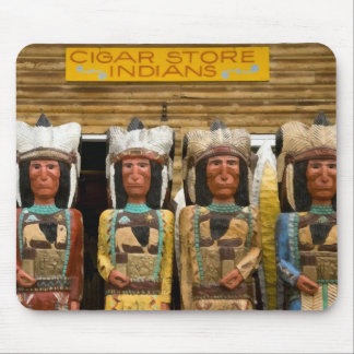 Cigar Store Indian statues Mouse Pads
