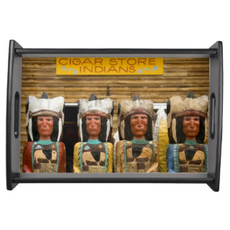 Cigar Store Indian statues Serving Tray