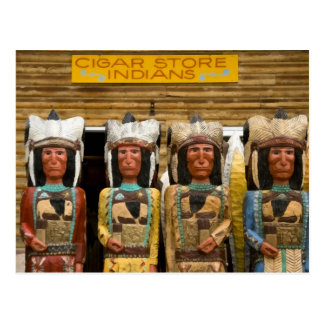 Cigar Store Indian statues Postcard