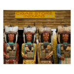 Cigar Store Indian statues Poster