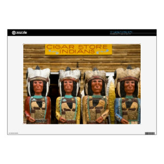 "Cigar Store Indian statues 15"" Laptop Decal"