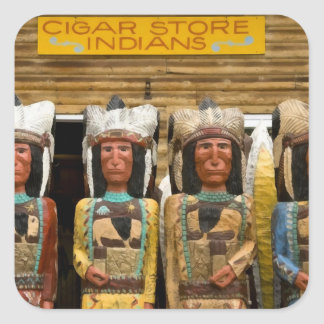 Cigar Store Indian statues Square Sticker