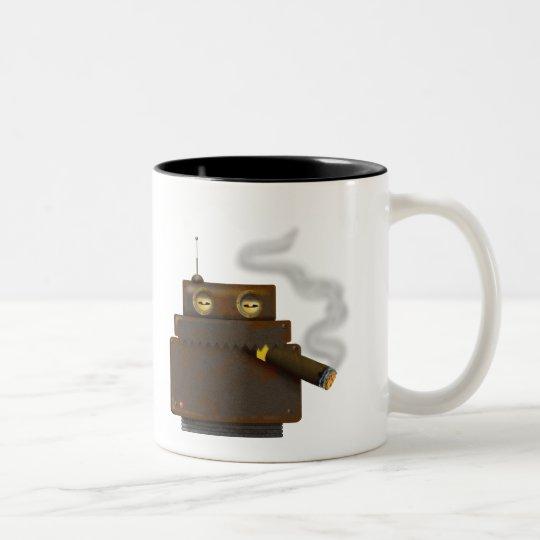 Cigarbot Two-Tone Coffee Mug