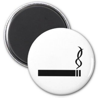 cigaret icon cigarette black 2 inch round magnet
