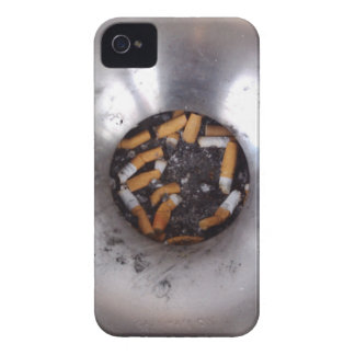 Cigarette Butts in Silver Smokers Ashtray, Funny Case-Mate iPhone 4 Case