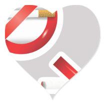 cigarette heart sticker