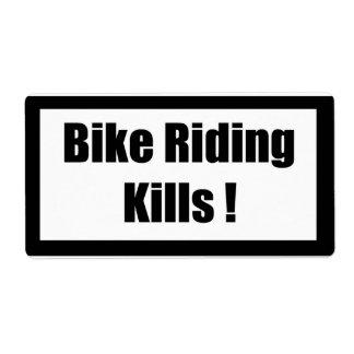 Cigarette Label Spoof - Bike Riding