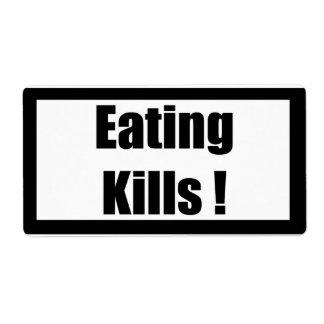 Cigarette Label Spoof - Eating