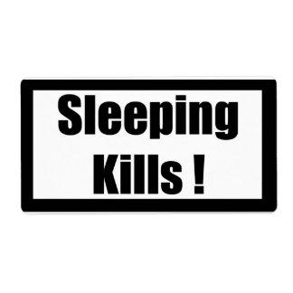 Cigarette Label Spoof - Sleeping