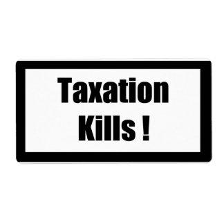 Cigarette Label Spoof - Taxation