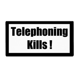 Cigarette Label Spoof - Telephoning