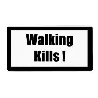 Cigarette Label Spoof - Walking