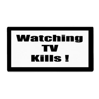 Cigarette Label Spoof - Watching TV