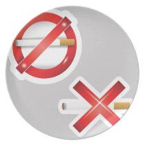 cigarette melamine plate