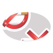 cigarette oval sticker