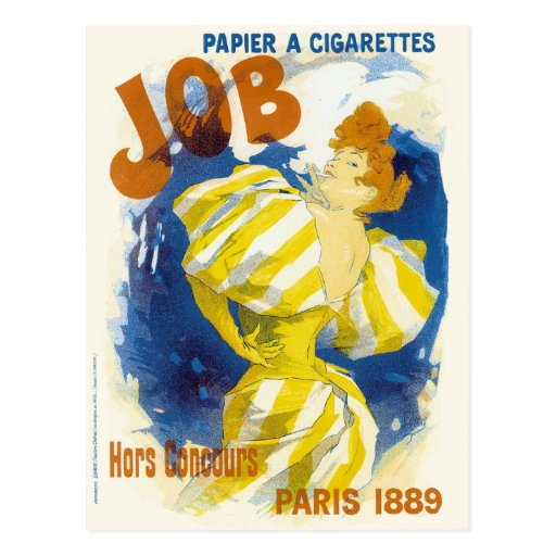 Cigarette Papers French Advertising Post Card