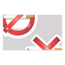 cigarette rectangular sticker