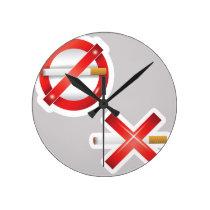 cigarette round clock