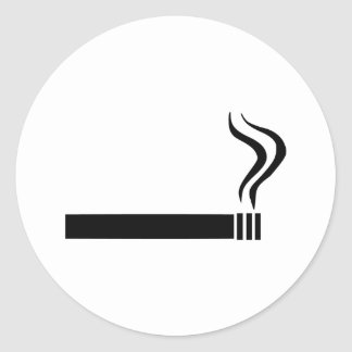 Cigarette Round Sticker