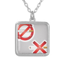 cigarette silver plated necklace