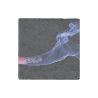 Cigarette smoke stone magnet