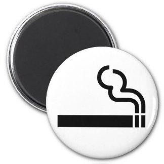 Cigarette Smoking Allowed Symbol Tobacco OK Sign 2 Inch Round Magnet
