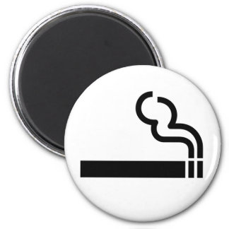 Cigarette Smoking Allowed Symbol Tobacco OK Sign Magnet