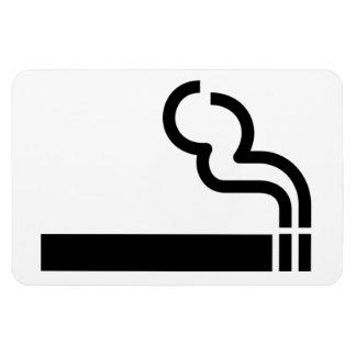 Cigarette Smoking Allowed Symbol Tobacco OK Sign Rectangular Photo Magnet