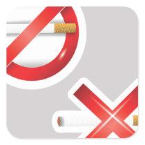 cigarette square sticker