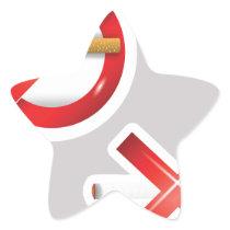 cigarette star sticker