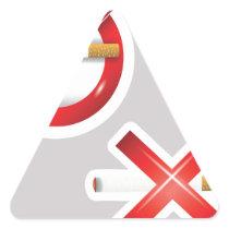 cigarette triangle sticker