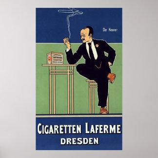 Cigaretten Laferme Dresden. Poster