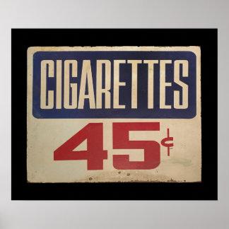 cigarettes 45¢ poster