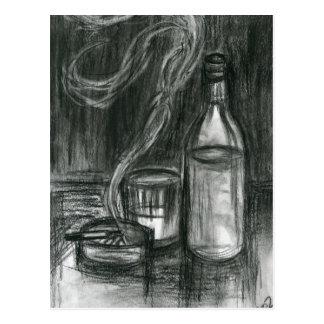 Cigarettes and Alcohol Postcard