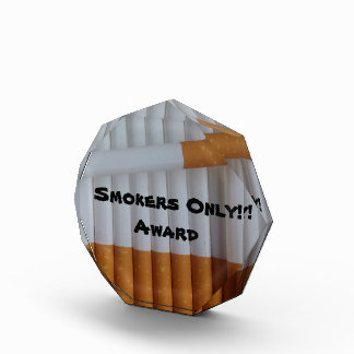 Cigarettes Funny Smokers Background Award
