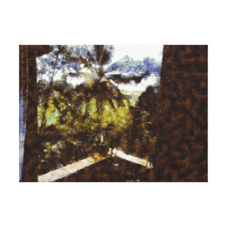 Cigarettes inside and natural greenery outside canvas print