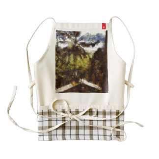 Cigarettes inside and natural greenery outside zazzle HEART apron