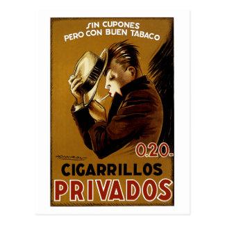 Cigarillos Privados Postcard