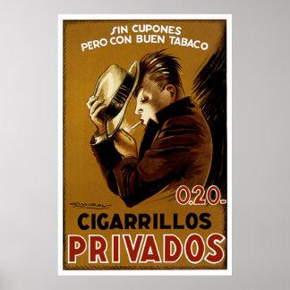 Cigarillos Privados Poster