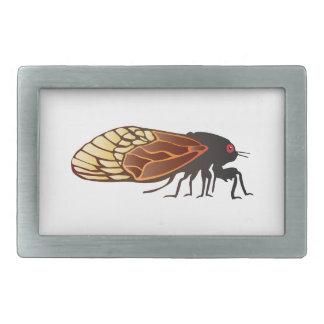 Cigarra - Magicicada - aparición del insecto asomb Hebilla Cinturón Rectangular