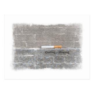 Cigarrillo pasado antifumador de abandono = que tarjetas postales