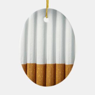 Cigarrillos Adorno Navideño Ovalado De Cerámica